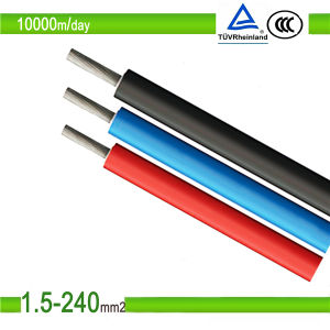 TUV Approved Single Core PV Cable 1kv, Solar Cable, PV1-F pictures & photos