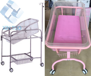 Moveable Stainless Steel Metal Kids Baby Hospital Cot Bed pictures & photos