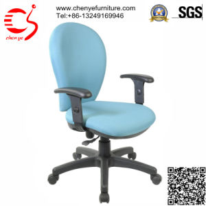 Light Blue Leisure Office Fabric Chair with Handrest (CY-C2109-6TG)