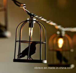 10LED Solar Powered Bird Cage String Light (RS1020) pictures & photos