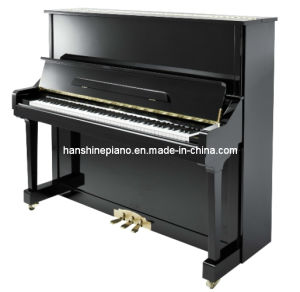 Chloris Ebony Polish Upright Piano (HU-131E)