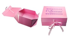 Paper Folding Rigid Carton Gift Box for Garment/Cosmetics Packaging pictures & photos