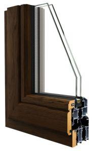Aluminium Profile Wood Composite Window Frame