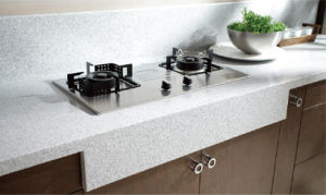 Custom New Melamine Faced Kitchen Cabinet (zg-013) pictures & photos