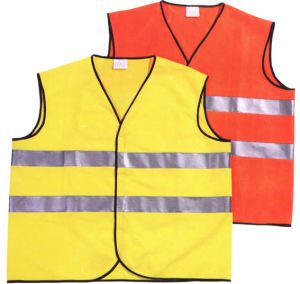 Orange Red Workwear Reflective Safety Vest pictures & photos