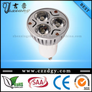 Dimmable GU10 3X3w Cool White LED Spotlight 110-240V