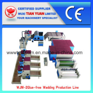 Polyester Fiber Wadding Production Line pictures & photos