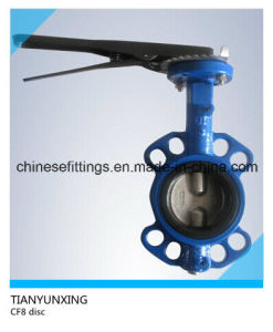 API DIN Manual Operation Wafer Ductile Iron Butterfly Valve pictures & photos