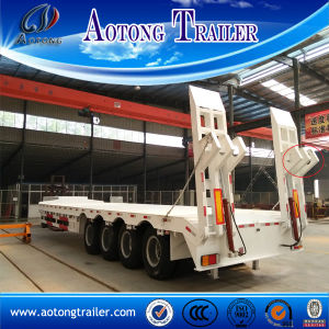 4 Axle 70 Ton Low Bed Trailer for Sale Indonesia pictures & photos