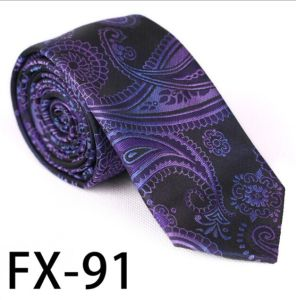 New Design Fashionable Stripe Paisley Necktie (Fx-91) pictures & photos
