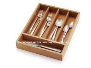 FDA LFGB SGS Eco- Friendly in Drawer Storage Cutlery Flatware Utensil Tray Organizer Storage Box pictures & photos