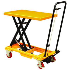 Portable Hydraulic Scissor Lift Table Cart pictures & photos