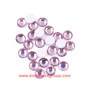 2mm Light Amethyst Silver Foiled Acrylic Flatback Rhinestone for iPhone Shell Decoration pictures & photos