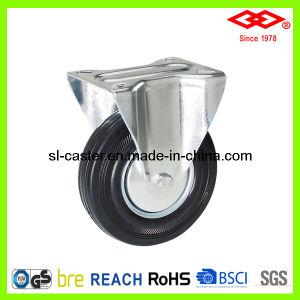 Black Rubber Caster Wheel (D102-11D080X25) pictures & photos