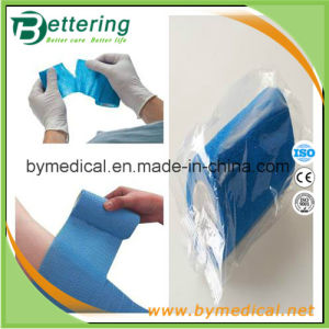 Blue Color Hand Tear Non Woven Self Adhesive Bandage pictures & photos
