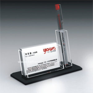 Desktop Business Card Holder with Pen Holder (BTR-H5004) pictures & photos
