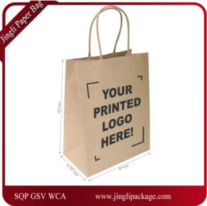 White Kraft Paper Bags, Shopping, Mechandise, Party, Gift Bags, Kraft Paper Bag with Print Logo, Paper Shopping Bag with Print Logo pictures & photos