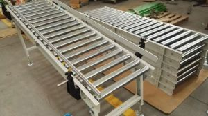 Automatic 90 Degree Turning Stainless Steel Roller Conveyor for Logictics pictures & photos