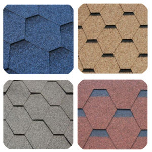 Colorful Asphalt / Bituminous Shingle for Villa / Cottage, Roofing Shingles/Roof Tiles pictures & photos