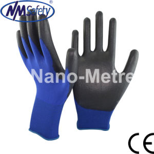 Nmsafety Professional PU Coated Hand Working Glove pictures & photos