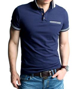 Men′s Fashion Pure Color Polo Shirt