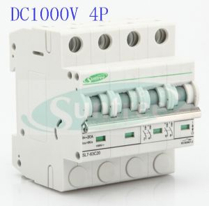 Solar DC Circuit Breaker DC1000V 4 Pole 6A-63A DC MCB pictures & photos
