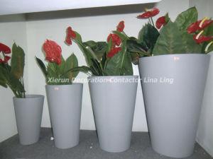 Fiberglass Round Planter for Garden Decorations