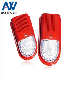Fire Protection System Red Warning Siren with Flash Light pictures & photos