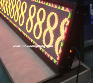 Indoor Dual-Color P4.75 LED Message Sign pictures & photos