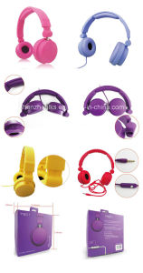 High Quality Earphones Fashion 3.5mm Stereo Plug Magnet Headphones pictures & photos