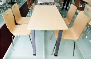 Stainless Steel Base Plywood Restaurant Dining Table Furniture (FOH-CXSC53) pictures & photos