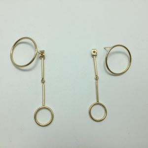 Factory Wholesale Simple Geometric Circle Hollow Metal Earrings pictures & photos