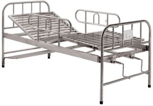 Stainless Steel Two Cranks Manual Hospital Bed (SK-MB125) pictures & photos
