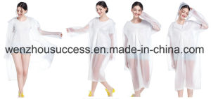 Waterproof PVC Rain Poncho pictures & photos