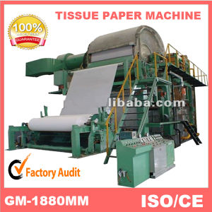 Low Cost 2100mm 8t/D Toilet Tissue Paper Making Machine, Waste Paper Recycling Machinery pictures & photos