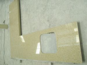Yellow Artificial Quartz Countertops for Kitchen& Bathroom pictures & photos