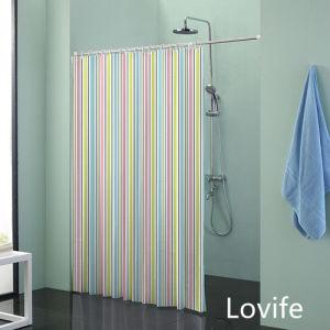 Shower Curtain Bathroom Waterproof Curtain (JG-241) pictures & photos
