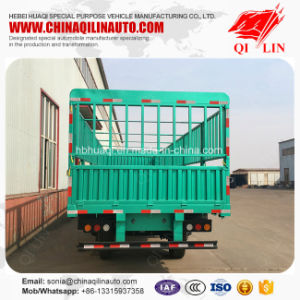 Cheap Price 3 Axles Cargo Fence Side Wall Semi Trailer pictures & photos