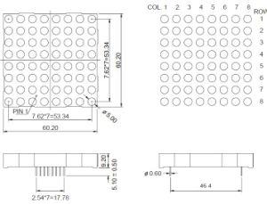 2.3 Inch 8X8 Single Color LED DOT Matrix pictures & photos