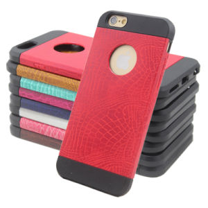 PU Hybird Armor Mobile Cell Phone Cover for iPhone 6 pictures & photos