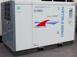 Used Water Lube Mitsui Seiki Oil Free Screw Air Compressor pictures & photos