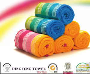 Hot Selling Color Stripe 100% Bamboo Towels pictures & photos