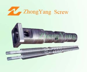 Conical Twin Screw Barrel for PVC Walter Pipe pictures & photos