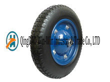 Heavy Duty PU Solid Wheel From Qingdao (3.25-8) pictures & photos