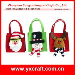 Christmas Decoration (ZY14Y476-1-2-3 28X17CM) Christmas Candy Bag Fabric Factory China pictures & photos