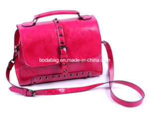 Bright Young Ladies Bag Rivet Female Fashion Handbags Bag (BDM058) pictures & photos