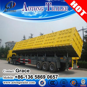 China Export Semi Trailer Type 3 Axles 40FT Tipping Container Tipper Trailer for Sale pictures & photos