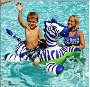 Inflatable Float- Zebra Kids Inflatable Pool Rider (FG-IF-009)