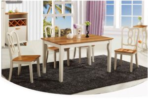 European Simple Solidwood Furniture Dining Rectangular Table and Chairs pictures & photos