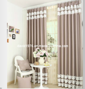Faux Linen Blackout Window Pinch Pleat Curtain (SZSMEBP047)